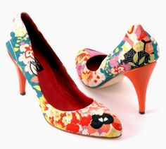 handmade designer shoes made with vintage Japanese kimono fabrics by Henrietta Rose Samuels