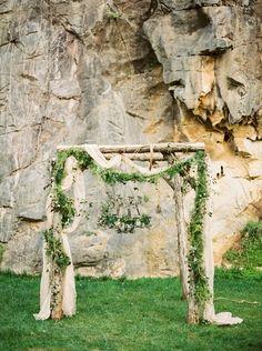 Enchanted forest ceremony arch with a moss chandelier. Vintage Bridal Bouquet, Blush Bridal, Bridal Shoot, Wedding Shoot, Wedding Suite, Wedding Blog, Dream Wedding, Wedding Ideas, Greenery Garland