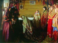 Иван Куликов. Старинный обряд благословения невесты в городе Муроме. 1909