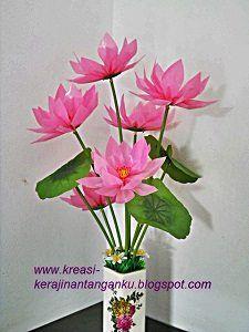 Cara Bikin Bunga Plastik : bikin, bunga, plastik, Membuat, Bunga, Sedotan, Teratai, Bunga,, Gambar, Cetakan