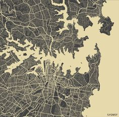 Sydney Map Canvas Print By Map Map Maps