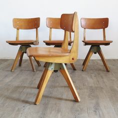 Casala wood school chair. Germany 1971.