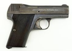 Becker & Hollander Beholla .32 ACP caliber pistol. WWI production for the German military. Loading that magazine is a pain! Get your Magazine speedloader today! http://www.amazon.com/shops/raeind