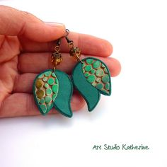Tulip earrings | Earrings with dots :) | Nevenka Sabo | Flickr