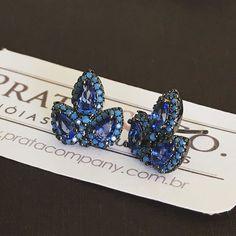 #brinco perfeito para seu look de sábado! #zirconiaazul #nanoturquesa #prata925 #banhoderodio negro #vendasonline 3x sem juros no pagseguro depósito bancário  R$154,00. #instajoias #instajewerly #amoprata #acessoriosfemininos #earings #silverjewelry #prata_company #joiasemprata #acessoriosdemoda #bluejewerly #joiasexclusivas #curitibafashion #beautifuljewerly #joiasemprata925