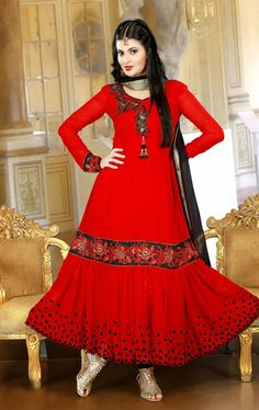 Picture of Exclusive Red Color Wedding Salwar Kameez Online Shopping