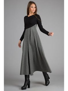 Casual top from Dress.Jersey long, warm wool bottom, elegant pleated -… - The Best Lace Dress Trends for 2019 Fashion Mode, Hijab Fashion, Fashion Dresses, Fashion Hacks, Fashion Studio, Work Fashion, Casual Dresses, Dresses For Work, Fashion To Figure