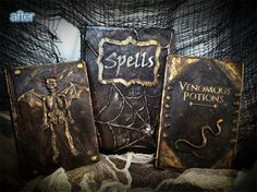 Happy Halloween! - how to make old looking spell books (or really adaptable to make any type of old looking prop book)