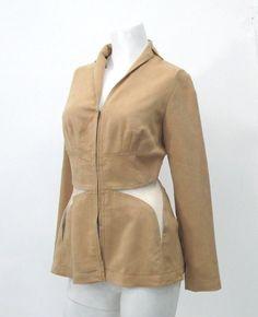 Cacharel Suede Zip Up Top Size 38 | eBay