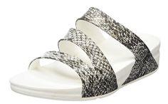 Fitflop Damen Superjelly Tm Twist Print Flip-Flops, , Mehrfarbig (Black/white) , 38 EU for sale Fitflop, Open Toe Sandals, Flip Flops, Black And White, Link, Partner, Shoes, Fitness, Fashion