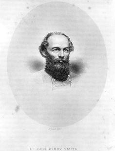 Portrait of Confederate Lieutenant General Edmund Kirby Smith.