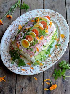 Swedish Savoury Sandwich Cake / Gateau Recipe - Great British Chefs