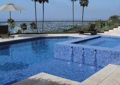 Image result for oceanside glass tile pool spa