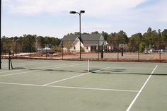 Fenced in Tennis Courts at Arlington Place #tennis #sports #courts #ball #excercise #outdoors #riverfront #subdivision #gated #community #neighbors #creek #boating #sailing #fishing #fun #outdoors #relax #tanning #summer #AP #Pamlico  #adventure #Minnesott #coastal #carolina #beach #ArlingtonPlace