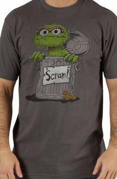 Sesame Street Oscar the Grouch Scram T-Shirt: Sesame Street Mens Tee