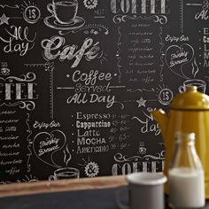 Vliestapete Küche Superfresco easy Coffee Shop black & white 32-993 | Tapeten online kaufen im Tapetenshop | Joratrend