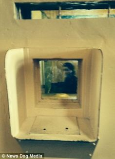 A ghostly image is seen in a picture of an empty cell in the notorious Alcatraz prison off...