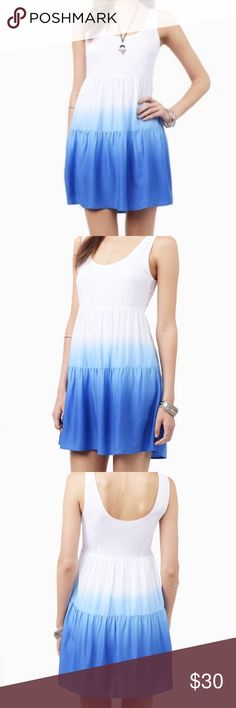 NWT anthropologie - Tobi slow fade dress This ombre piece fades white to blue. Excellent condition just too small for me. Offers welcome! Bundle for additional savings!! Anthropologie Dresses Mini