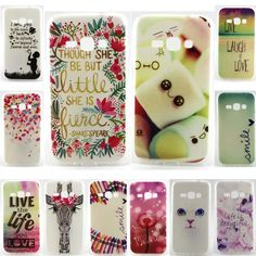 TPU Soft Case for Samsung Galaxy J1 2016 J120 Cases Back Silicone Phone Cover For Samsung J5 2016 J510 lovely pattern Covers