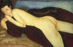 Nude-Mahogany Red by A Modiglianni 1917. Courtesy of The Barnes Foundation