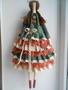 """Купить Тильда""""Лето в деревне"""" - тёмно-зелёный, тильда, тильда кукла, тильда ангел, подарок девушке"""