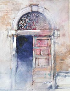 An Artist Labyrinth: Ginny Stiles: Seeing a Door in a New Way Watercolour Tutorials, Watercolor Artists, Watercolor Sketch, Watercolor Techniques, Art Techniques, Watercolor Illustration, Watercolor Paintings, Watercolors, Sketch Art