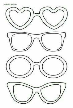 Sunglasses template