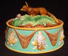 Oval Fox Finial Game Dish. George Jones. England. 1860-1870's