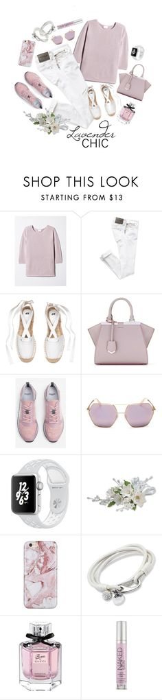 """Lavender Chic"" by maykarsy ❤ liked on Polyvore featuring Fendi, MANGO, Dolce&Gabbana, Gucci and Urban Decay"
