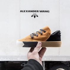 "12.5k Likes, 251 Comments - ALEXANDER WANG (@alexanderwangny) on Instagram: ""The Drop 3 Skate shoe in sand and light grey. Made of ultra-soft suede with a tri-color rubber…"""