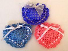 I miei lavori all'uncinetto: Bomboniere uncinetto cuore per tutte le occasioni realizzabili in qualsiasi colore