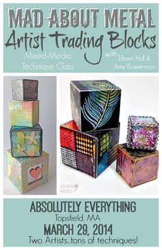 Artist Trading Block Classes on the #PaperTrail February 20, 2014 by Pluckingdaisies 4 Comments