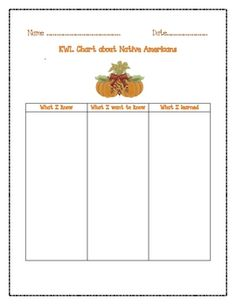 KwlS For Fall  Worksheets Activities And Students