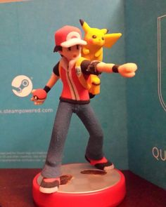 custom Ash and Pikachu Amiibo by amiibo