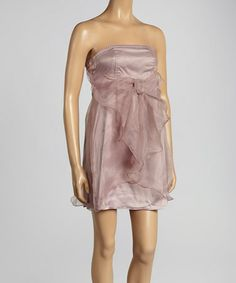 Look at this #zulilyfind! Purple Chiffon Bow Strapless Dress by Ryu #zulilyfinds