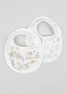 Unisex Winnie The Pooh 2 Pack Bibs (One Size)