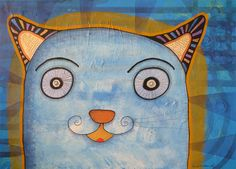 Gato iluminado Canvas, Fictional Characters, Art, Cats, Tela, Craft Art, Kunst, Gcse Art, Canvases