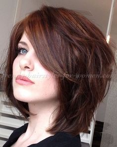 medium length hairstyles, clavi cut, LOB - layered haircut for medium length hair -  I like the color too