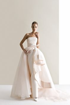 Characterized by luxurious fabrics, unconventional colors, unique detailing and silhouettes, the latest bridal collection of Antonio Riva wedding dresses is bold, creative and modern. Take a look and happy pinning! Bridal Collection, Dress Collection, Designer Wedding Dresses, Bridal Dresses, Beautiful Gowns, Stunning Wedding Dresses, Gorgeous Dress, Elegant Dresses, Wedding Attire