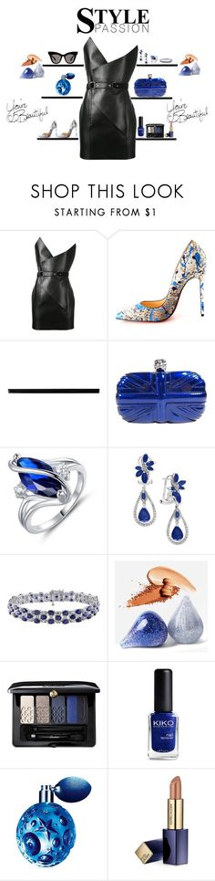 Party Outfit by theresagray31 on Polyvore featuring Yves Saint Laurent, Christian Louboutin, Alexander McQueen, Effy Jewelry, Guerlain, Estée Lauder, Thierry Mugler and Merola