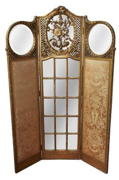 Buy online, view images and see past prices for French Giltwood Screen. Invaluable is the world's largest marketplace for art, antiques, and collectibles. Office Room Dividers, Hanging Room Dividers, Folding Room Dividers, Room Divider Screen, Room Screen, Folding Screens, Decorative Screens, Decorative Items, Rococo