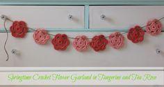 Springtime Crochet Flower Garlands: a Shop Update