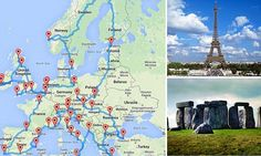 Ultimate European road trip! 16,000 miles and taking in 45 places