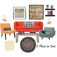 Livingroom ideal. I'd like to be colorful and energetic, something like this!