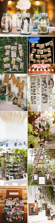27 Cool Ways to Display Photos at Your Wedding