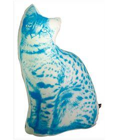 Gato - Cojín azul. $56.000 COP. Compra aquí --> https://www.dekosas.com/productos/cojin-gato-azul-detalle