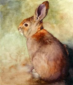 Lapin Painting by Bonnie Rinier - Lapin Fine Art Prints and Posters for Sale