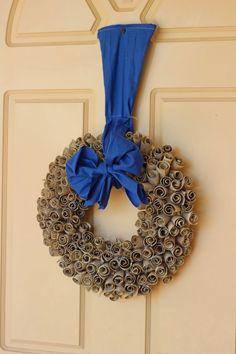DIY Eco Wreath (from Toilet Rolls)