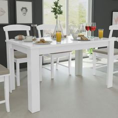 Modern Design Dining Table for Dining Room Home Furniture cm Oak/White White Dining Table, Table Bar, Contemporary Dining Table, Pub Table Sets, Dining Table In Kitchen, Room Kitchen, Dining Tables, Dining Rooms, Contemporary Furniture