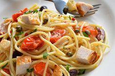 The quickest pasta recipe you will ever make - Spaghetti and Turkey a la Puttanesca